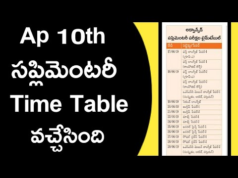 Ap 10th class supplementary exams time table 2019 | ap SSC result | ap 10th result 2019
