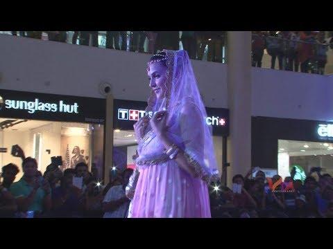 Neha Dhupia Fashion show indian wedding couture