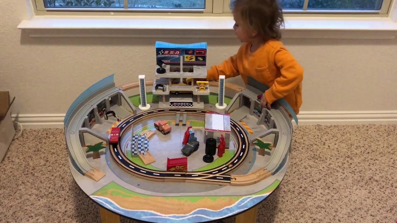Little Claudio Plays Kidkraft Disney Pixar Cars 3 Florida Wooden Track Set Table Play Review