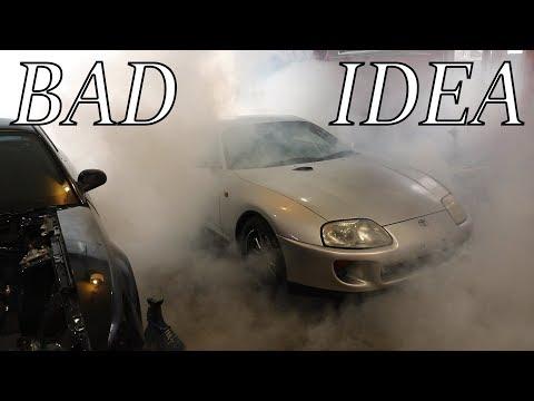 800HP Supra Garage Burnout