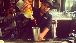 Bar Esquina Raspberry Lemondrop Cocktail Recipe -- Bar Esquina -- Cabo San Lucas, Mexico