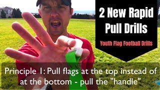 2 New Rapid Pull Drills - Flag Pulling Youth Flag Football Drill