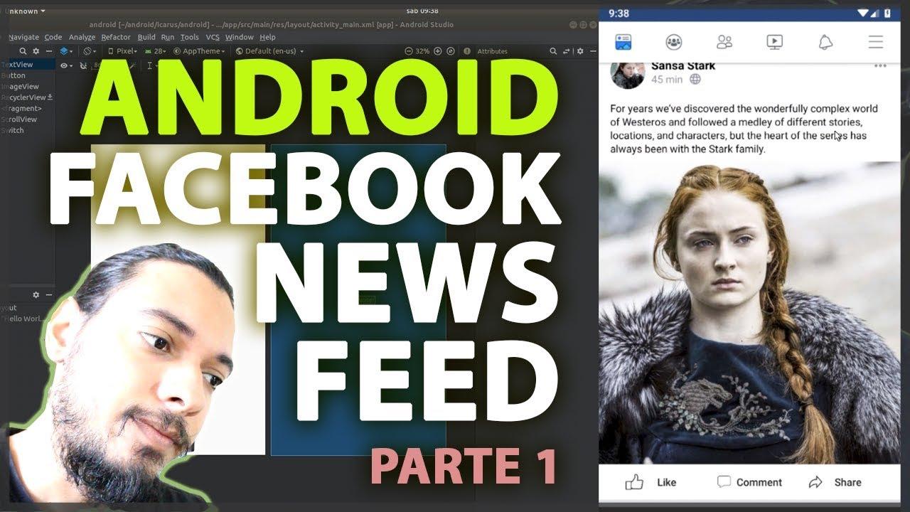 ANDROID: CRIANDO O FACEBOOK NEWS FEED - INÍCIO COM CONSTRAINT LAYOUT   PARTE 1
