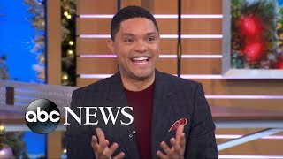 Trevor Noah tried his first taco recently so NY Giants star Saquon Barkley brought him some more.  SUBSCRIBE to GMA ► https://www.youtube.com/channel/UCH1oRy1dINbMVp3UFWrKP0w/subscribe To read the full story and others, visit http://www.goodmorningamerica.com   Good Morning America (GMA) brings viewers an award-winning combination of breaking news, exclusive investigations, hard hitting interviews, weather forecasts, cutting edge medical field information, and financial reporting every morning. Join Robin Roberts, George Stephanopoulos, Lara Spencer, Michael Strahan, Amy Robach and Ginger Zee weekdays at 7am on ABC.  Follow GMA across the web-- Facebook: https://www.facebook.com/GoodMorningAmerica Twitter: https://twitter.com/GMA?ref_src=twsrc%5Egoogle%7Ctwcamp%5Eserp%7Ctwgr%5Eauthor Instagram: https://instagram.com/goodmorningamerica/?hl=en