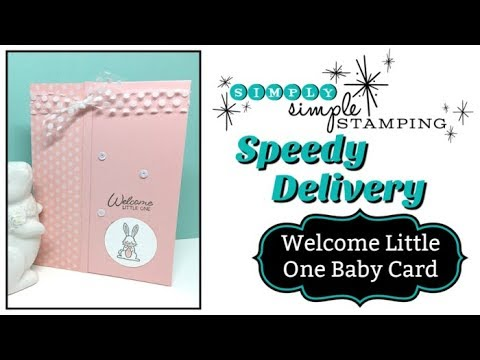 Welcome Baby Card SPEEDY DELIVERY
