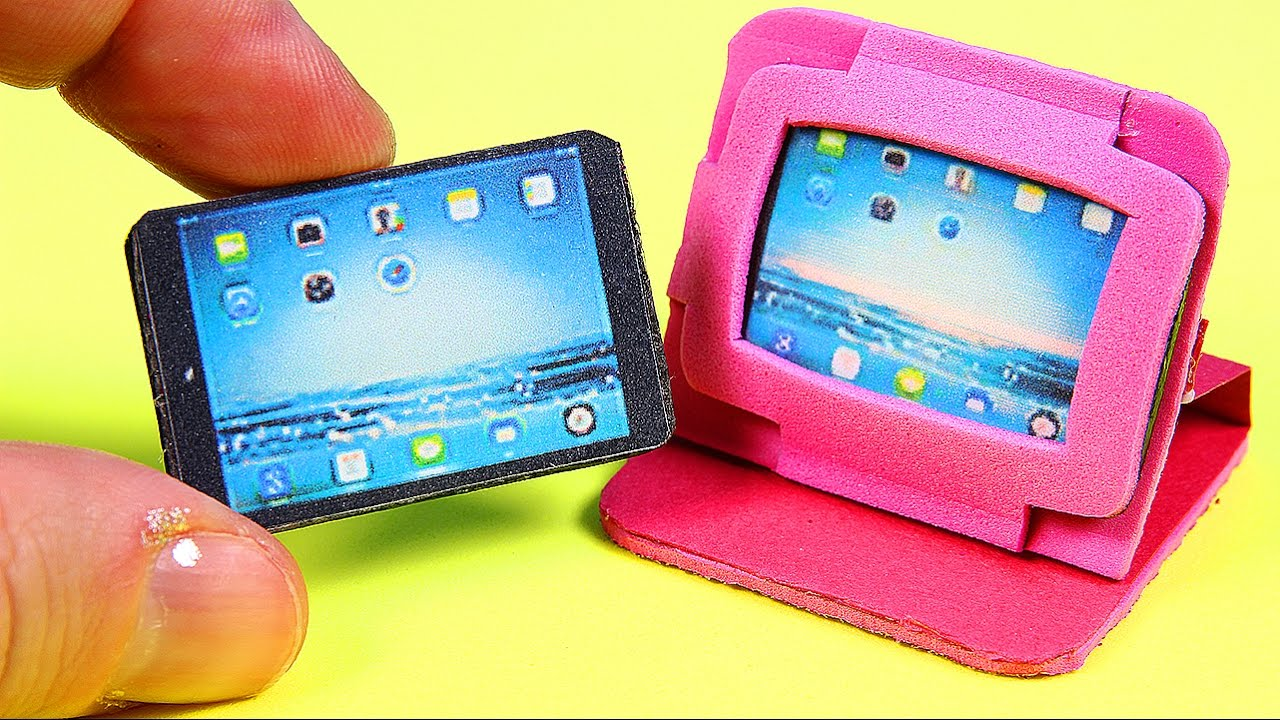Diy Miniature Tablet Ipad 2 Tablet Cases Youtube