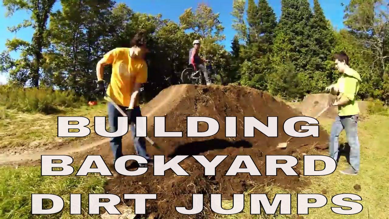 the coulas u0027t backyard dirt jump u0026 pump track speed build youtube