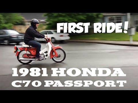 1981 Honda C70 Passport (22) – First ride