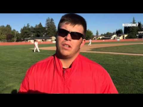 Lincoln pitcher Keegan Wallen on the Trojans