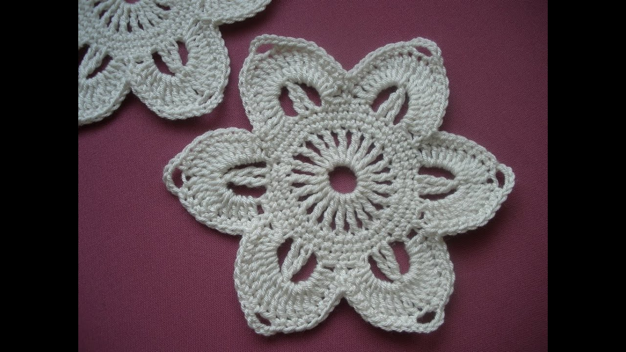 Crochet pattern Flower step by step - YouTube