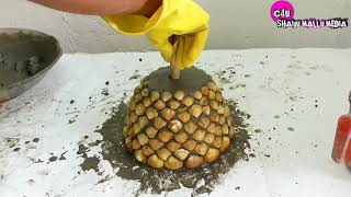 How to Make  Beautiful Cement Pot for Indoor Plant/Creative Ideas