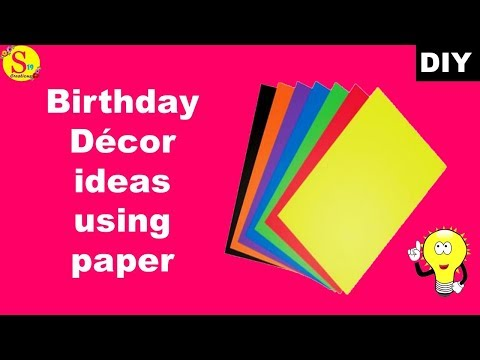 diy-party-decorations-for-birthday-|-paper-craft-ideas-for-wall-decor-|-party-decorations-diy