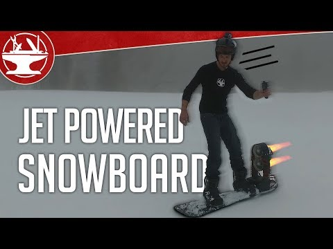 ELECTRIC Snowboard goes TOO FAST!
