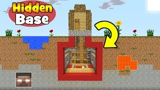 "Minecraft Tutorial: How To Make A Hidden Base Under a Villager House ""Villager House Hidden Base"""