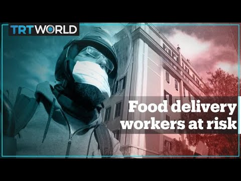 Delivery workers risk health amid coronavirus pandemic