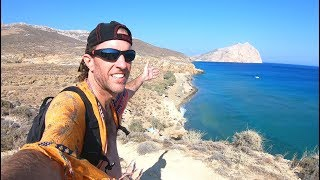 ONE DAY IN GREECE | Beach Hiking Adventure on Anafi Island