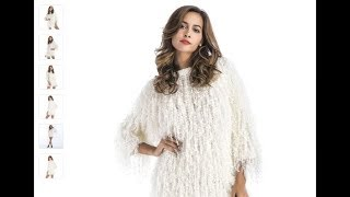Solid color hand knitted faux fur coat For Christmas Party on AliExpress