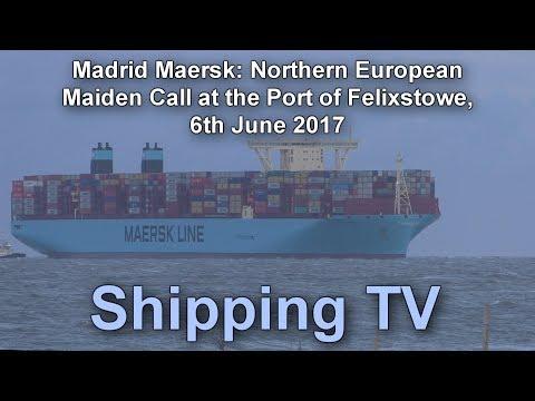 Madrid Maersk Northern European Maiden Call, 6 June 2017