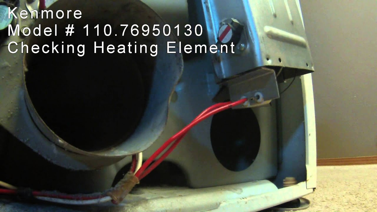 checking kenmore dryer heating element model