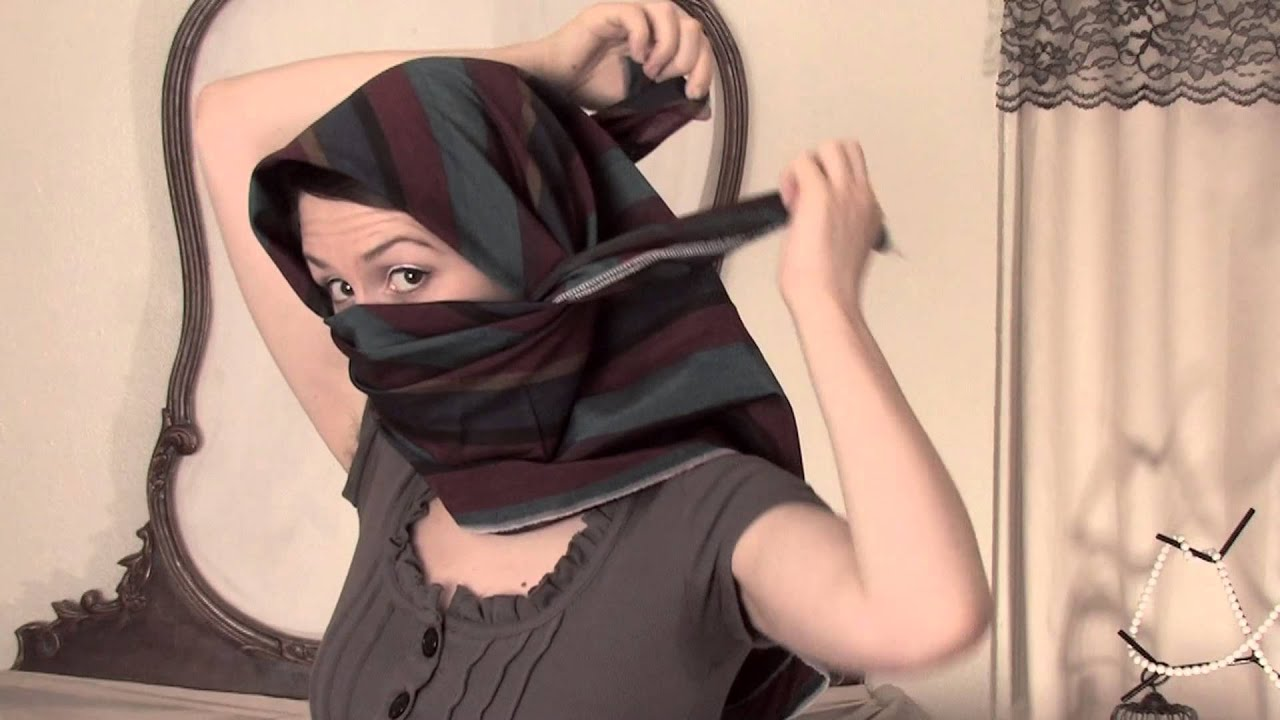 How To Tie A Shemagh Scarf Scarves Youtube