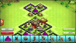 Clash of Clans NEW TH8 WAR BASE 4 Mortars!!! After Halloween Update 2014 Speedbuild