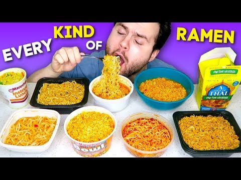 I Tried Every Brand Of RAMEN From The Store... - Ramen Noodles Taste Test!