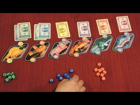 Dice rolling game in vegas