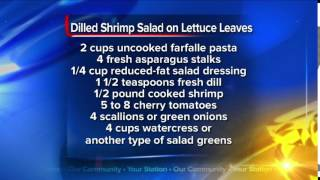 What's For Dinner: Dilled Shrimp Salad On Lettuce Leaves