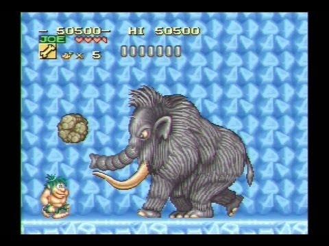 Joe And Mac Caveman Ninja SNES Gameplay Super Nintendo Walkthrough
