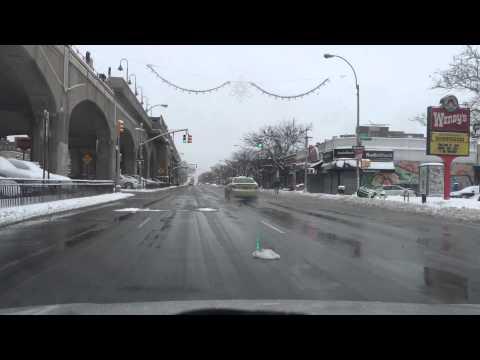 Queens Blvd Snow Drive 1-27-15 8:55AM After Blizzard Juno