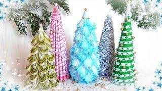 Ёлка своими руками из разных материалов 5 идей / diy Christmas tree