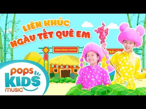 Mầm Chồi Lá Tập 92 - Liên Khúc Ngày Tết Quê Em | Nhạc Tết thiếu nhi remix|Vietnamese Kids Song