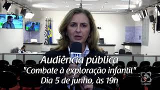 Convite: audiência pública irá debater abuso e exploração infantil