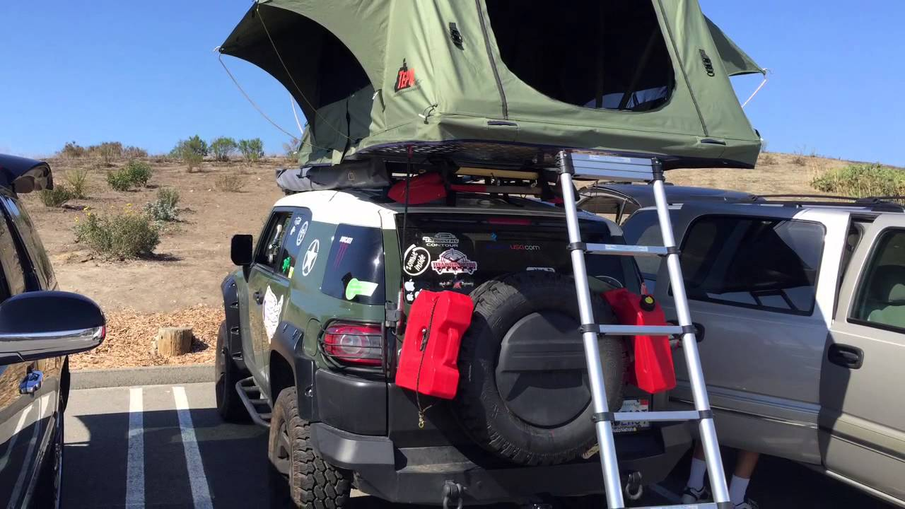 Tepui Tent Installed On FJ Beast & Tepui Tent Installed On FJ Beast - YouTube