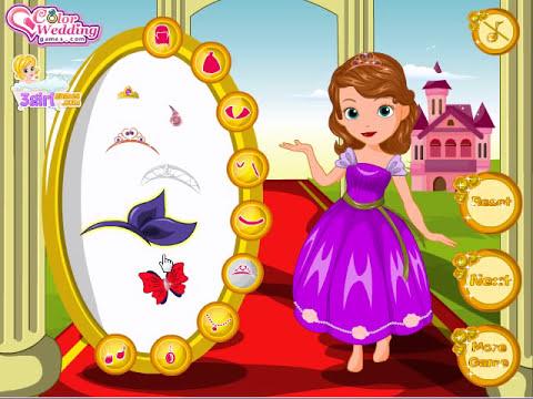 Juego Vestir A La Princesa Sofia Y Amber
