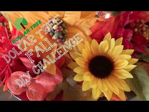Dollar Tree Fall DIY Decor Challenge 2017:  Fall Candle Centerpiece