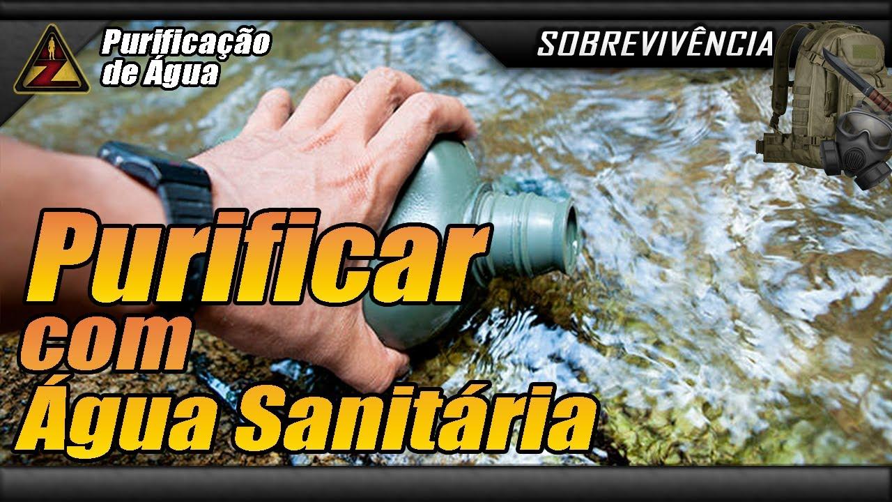 PURIFICAÇÃO DE ÁGUA EM EMERGÊNCIAS COM ÁGUA SANITÁRIA   #AREAZ #PREPPERS #SOBREVIVENCIALISMO