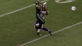 Xavier Rhodes Gets Snagged On By Kasen Williams  Seahawks vs Vikings 