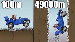 Hill Climb Racing - CAVE 49000m on Rally Car GamePlay screenshot 5