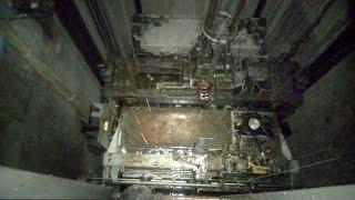 Жесть! Водопад в шахте лифта!