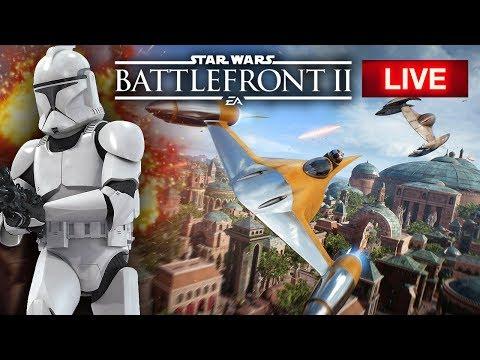 Star Wars Battlefront 2 LIVE - New Multiplayer Gameplay!  Huge CLONE WARS Battles!