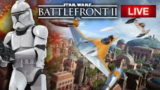 Star Wars Battlefront 2 LIVE - New Multiplayer Gameplay!  Huge CLONE WARS Battles!