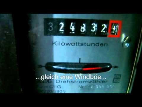 Stromzähler läuft rückwärts - mini Windkraftanlage Black 300 - YouTube