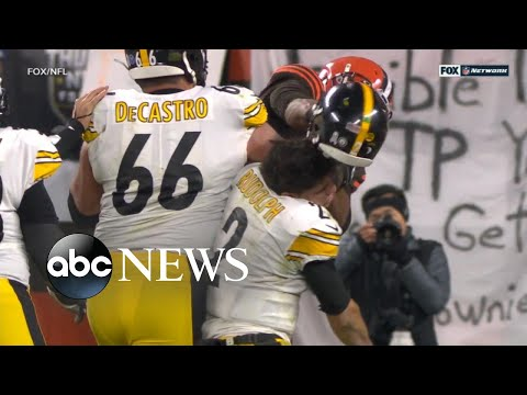 Violent brawl breaks out at NFL game l ABC News