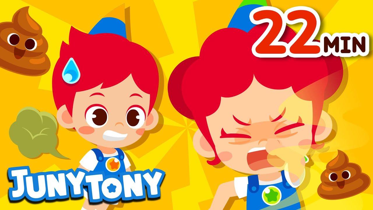 Download Poop, Fart, and Burp Songs Compilation   Best Kids Songs   Preschool Songs   JunyTony
