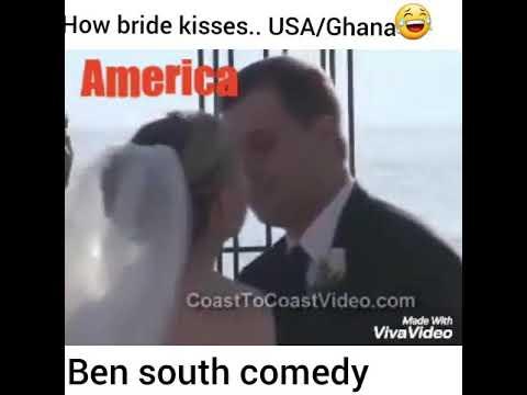 How Brides kisses.. America vrs Ghana..