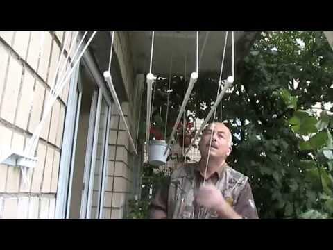 Видеоинструкция по сборке и монтажу потолочной сушилки для белья .