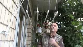 видео Потолочные лианы для сушки белья