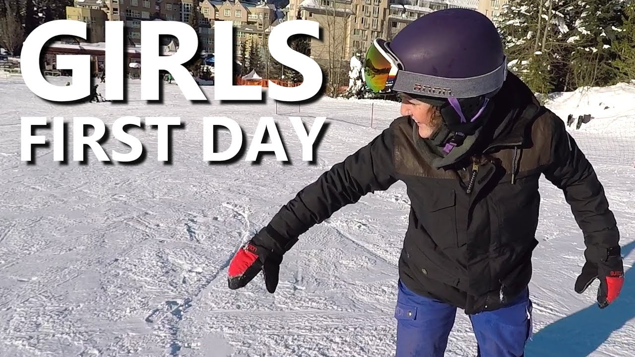 Girls First Day Snowboarding Beginner Snowboard Tips Youtube