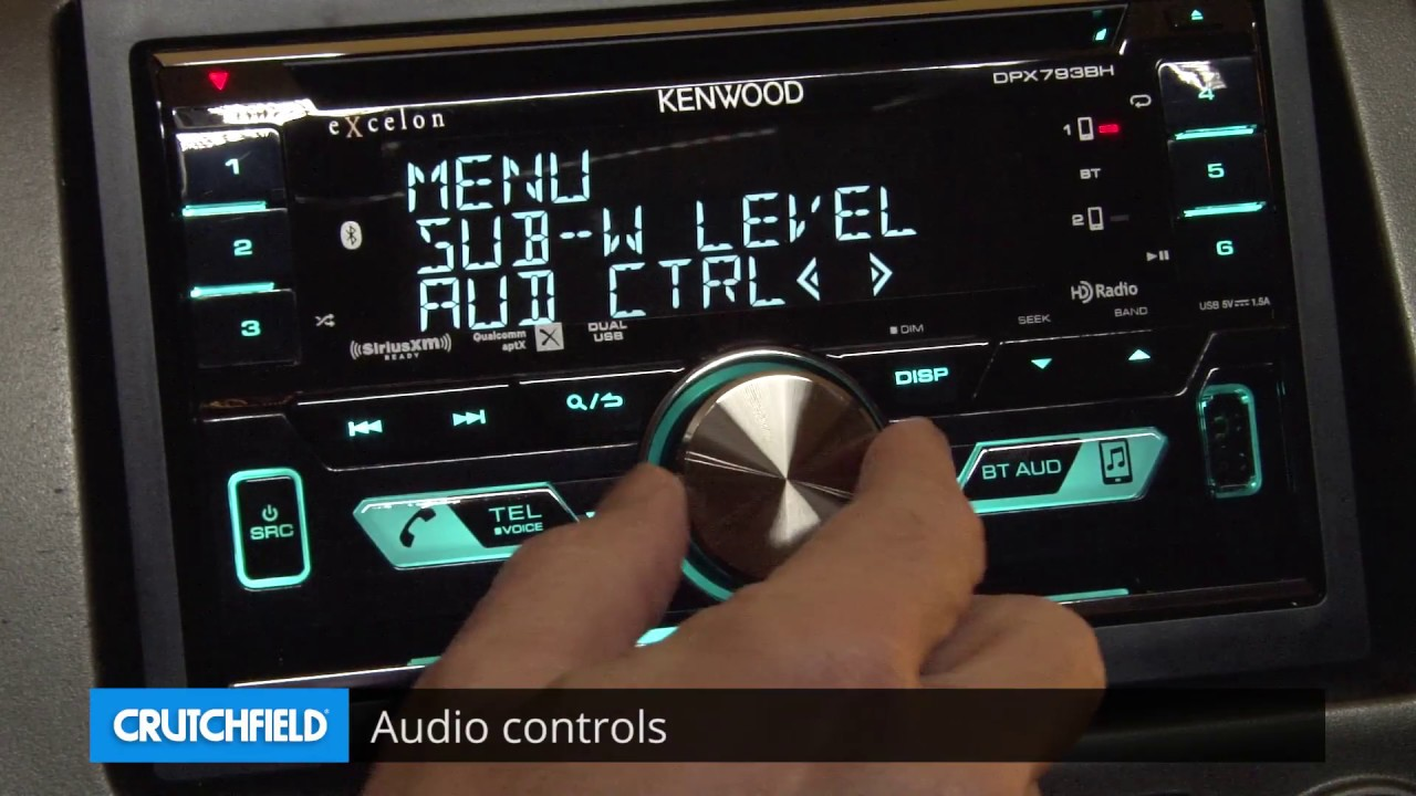 Kenwood DPX503BT Display and Controls Demo | Crutchfield Video
